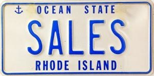 Sales License Plate