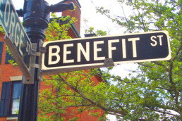 Benefit Street Sign